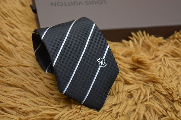 Yeni Moda Aksesuarları Kravat Marka Moda Klasik Erkekler Erkekler için ipek Kravatlar Iş Kravat mektubu ile L26 ...