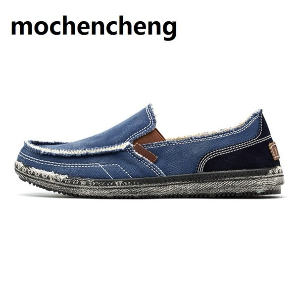 Mens round toe Antiskid Breathable Flats Cloth Loafers Casual Driving Shoes NEW