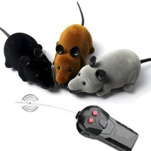 Пульт дистанционного управления мыши пластиковые моделирования животных электронные крысы смешные движения мыши игрушка кошка игрушка LJJR250