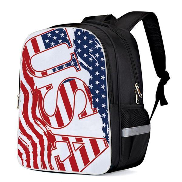 USA Flagge Unabhängiger Tag Sportlich Rucksack Mode Rucksäcke College Rucksäcke Laptop Schulrucksack Umhängetaschen