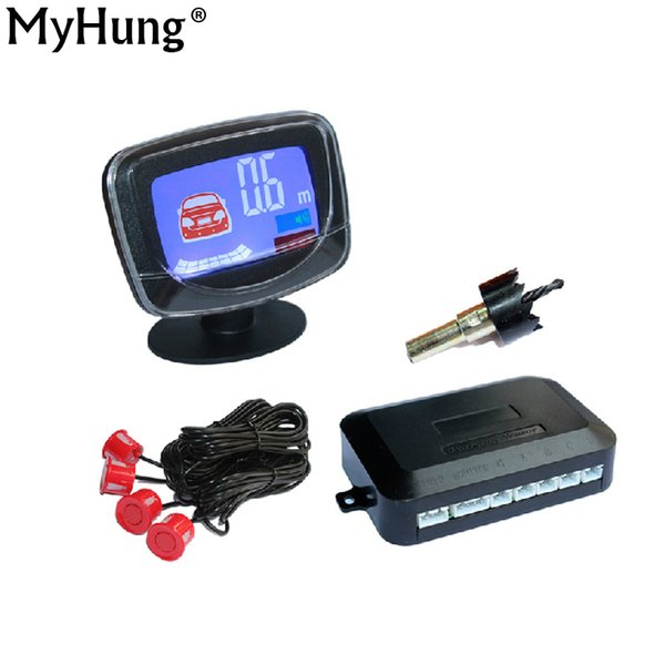 Sensore display LCD per auto Sensore display LCD 4 Sensori di parcheggio retromarcia Radar di backup Kit sistema di rivelazione auto per tutti