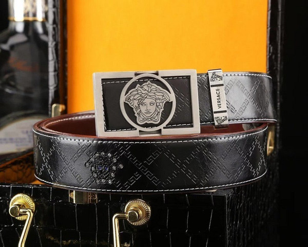 Silver pure hand boutique buckle Mens Belt Authentic Official Belt With Box