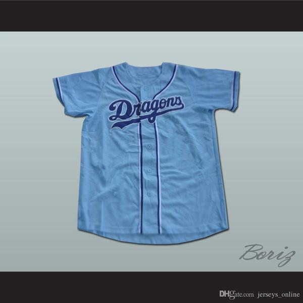 Chunichi Dragons Jack Elliot Mr. Baseball Filme Jersey NEW ponto Sewn
