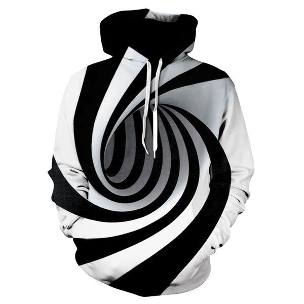 Hypnose Vortex Hoodies Sweat Hommes Femmes Plus La Taille 3d Sweat À Capuche Whirlpool Imprimer Drôle Hip Hop Survêtement Streetwear