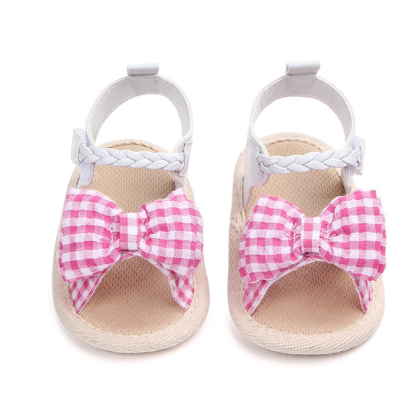 Princess Shoes For Girls Cute Bow Tie Baby Girls Shoes Summer Cotton Newborn Girl First Walkers Crib Soft Soled #05