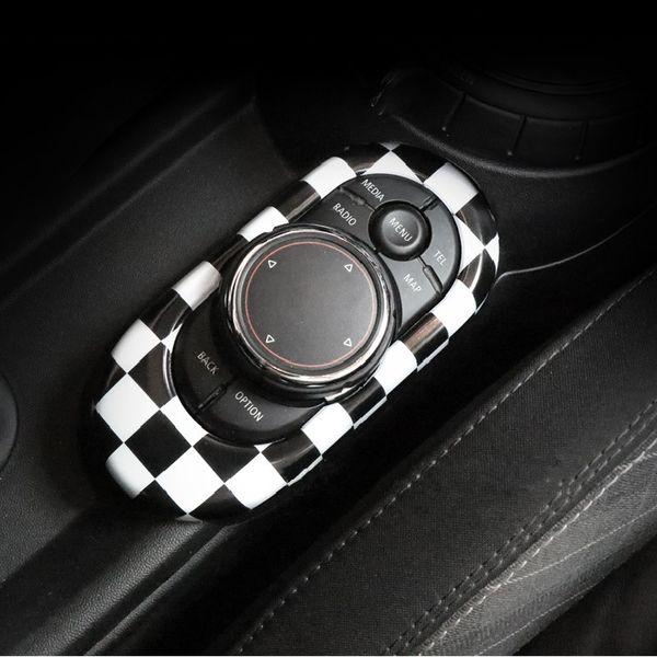 Union Jack ABS Car Interior Decoration Center Console Panel Sticker Midea Control Moulding Trim Cover for Mini Cooper F56 F55