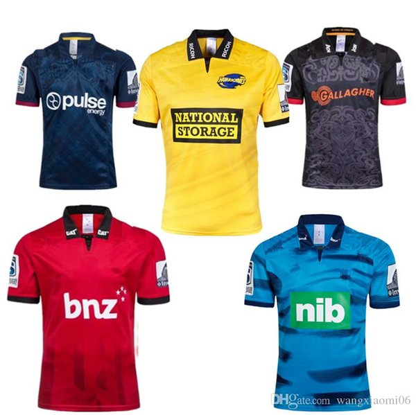 top popular 2019 CRUSADERS HURRICANES CHIEFS HIGHLANDERS BLUES SUPER RUGBY JERSEYS HOME AWAY training SINGLET size : S-3XL Top quality free shipping 2019