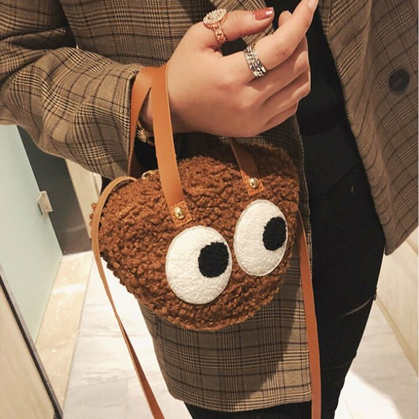 xiniu spring fashion Women Cute Little Bag Cartoon Big Eye Pattern Personality Handbag famous brand woman bags borse da donna