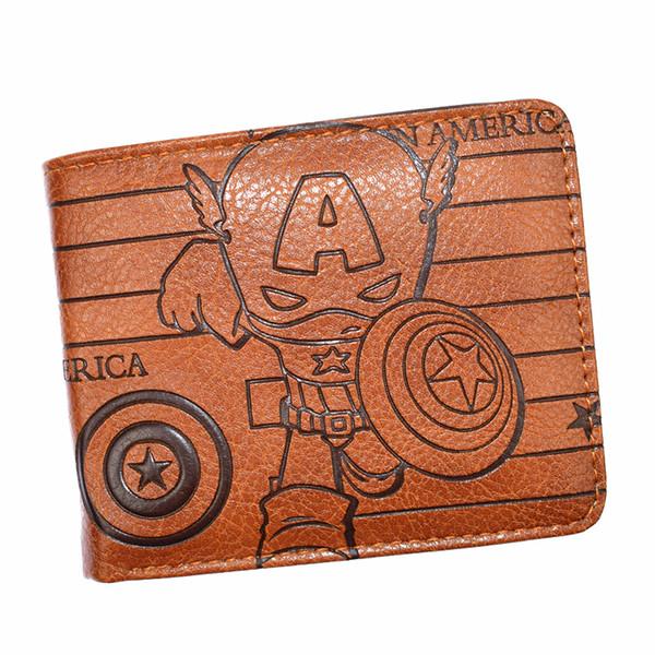 High Quality Marvel Wallet /Deadpool / Black Panther /Punisher Men's Short Wallets With Coin Pocket