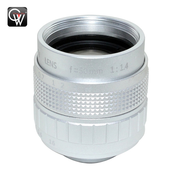 Professional 50mm f/1.4 2/3 CCTV Lens C Mount CCTV Lens features alloy casing with quality lens