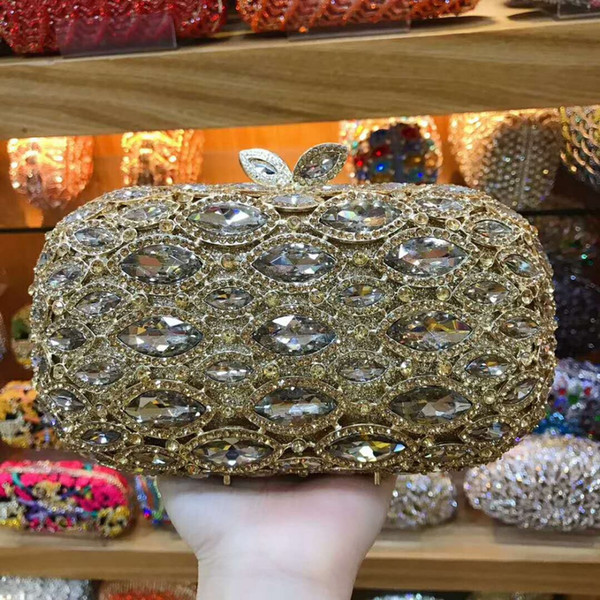 Woman gold Evening Bags for party/cocktail/wedding/prom/dinner Clutch shoulder Bags lady day clutches purse wallet Mini Handbag