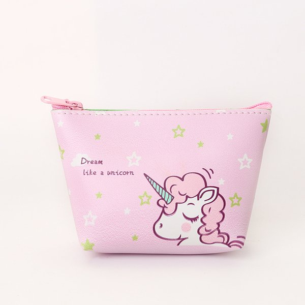 Cartoon Unicorn Wallet With Zipper For Women Zero Purse Card Bags Pocket Money Storage Good Quality C2