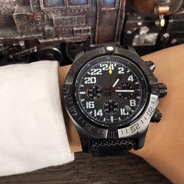 2019 homens de luxo cronógrafo avenger lutador relógio de aço inoxidável de quartzo japonês homens mens watch relógios relógios de pulso