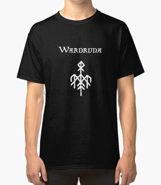 Stampato Uomo T magliette camicia di cotone O-collo corto-manica Wardruna (texte Avec) T-shirt