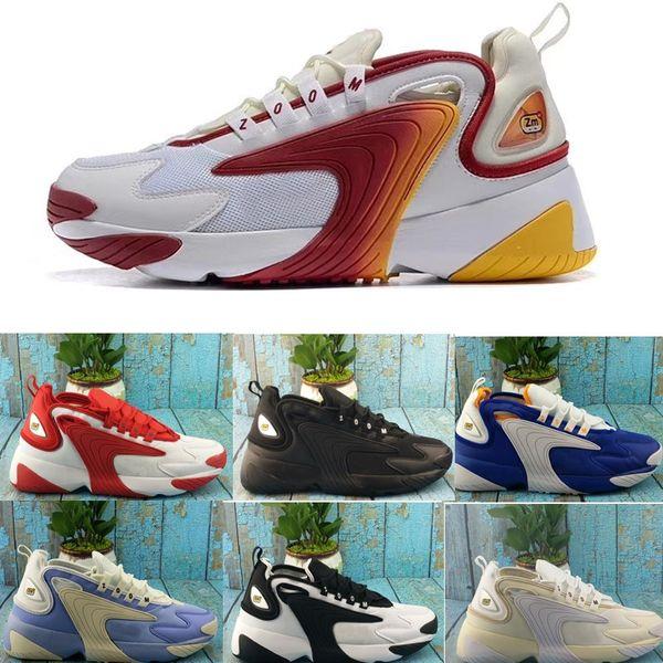 Großhandel Nike 2019 New Zoom 2K Sneaker Zoom 2000 Schuhe Schwarz Blau Weiß Rot Männer Laufen Basketball Herren Trainer Lässige Turnschuhe Chaussures