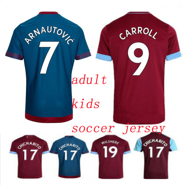 the latest b5efa 1323d 2019 2018/2019 West Ham Home Soccer Jersey LANZINI CARROLL #17 CHICHARITO  Football Uniform Jeresys Homeaway Men'S Fans Jersey Shirt From Kidsky556,  ...