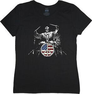 Señoras t USA batería batería set Abraham Lincoln mujer 039 s camiseta