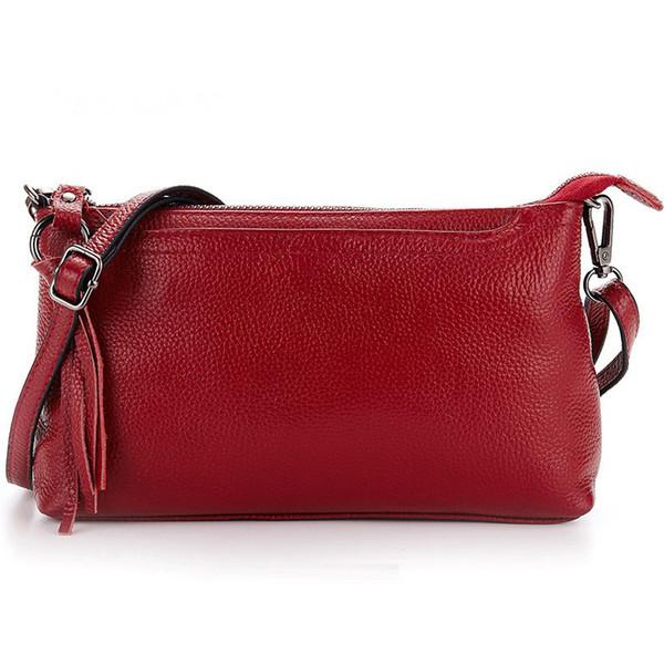 European Style Female Small Handbags Genuine Leather Women Envelop Shoulder Bags Fashion Litchi Leather Ladies Crossbody Bag