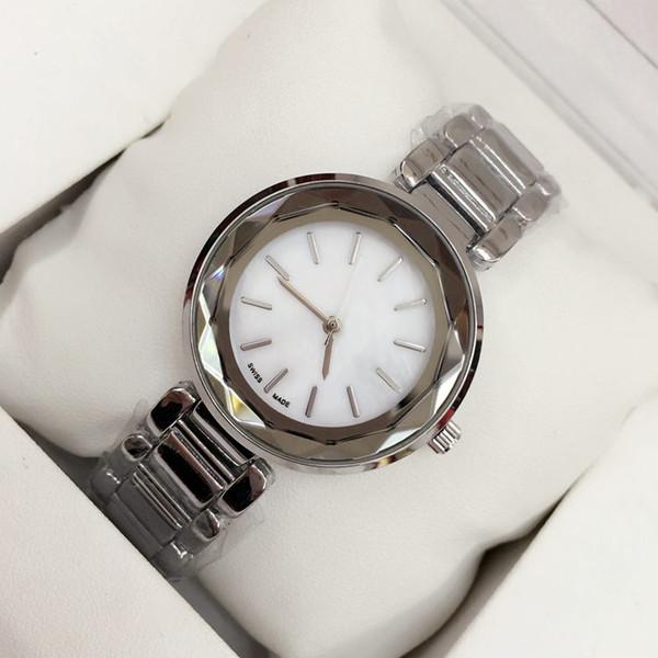 2019 chaude populaire Luxe femmes regarder en acier inoxydable Fashion Lady robe montre modèle Femmes montre-bracelet Relojes De Marca Mujer livraison gratuite