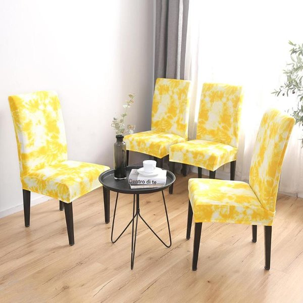 Wondrous Tie Dye Craft Graffiti Pattern Removable Chair Cover Elastic Slipcover Yellow Furniture Covers For Couches Slip On Chair Covers From Xuol 39 78 Short Links Chair Design For Home Short Linksinfo