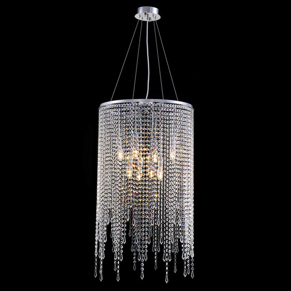 Modern Linear Round Chandeliers Island Crystal Chandelier Pendant Lamp Light Fixture For Bedroom Dining Room Kitchen D 20 Chandelier Table Lamps Black