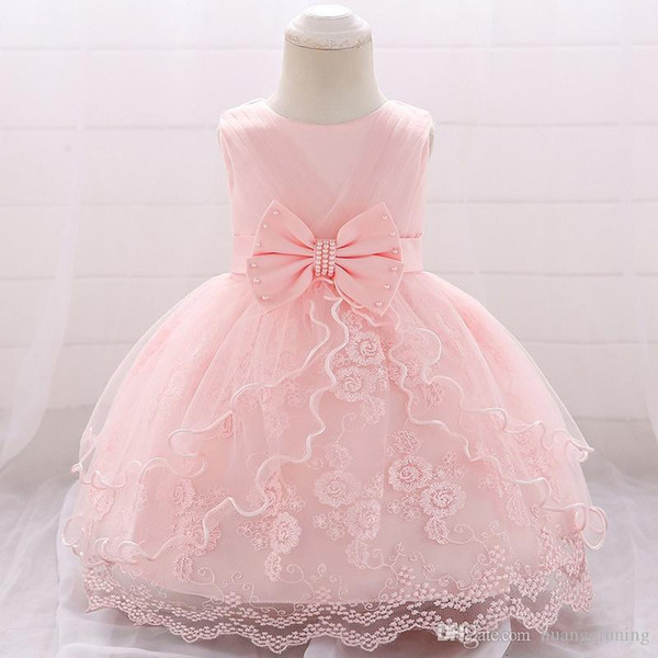 1st Birthday Dress For Princess Girls Clothes 2019 Summer Lace Party Christening Gowns Toddler Kids Dresses 1 Year Old Event Clothing
