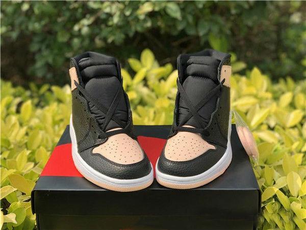 2019 Vente en gros Haute OG 1 Noir Crimson Tint Hommes Basketball Chaussures Hyper Rose Blanc Noir 555088-081 Chaussures de sport Chaussures de sport 7-12