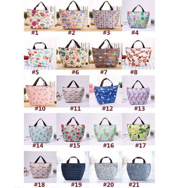 Printing oxford aluminum foil zipper Lunch Bag Storage bags thicker Insulation Bags handbags Waterproof lunch box Ice pack
