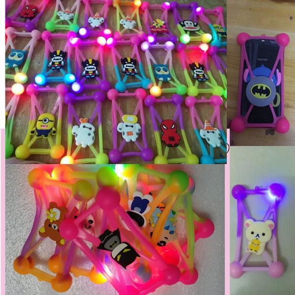 Multicolor LED Universal Phone Cases pour Within 5.5 pouces téléphone portable 3D Cartoon silicone Cas de téléphone lumineux en caoutchouc souple Cadre A101002
