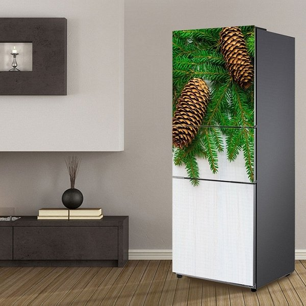 Fridge Wrap /Christmas Plants /Removable Self Adhesive Vinyl /Peel and Stick Decal Wallpaper