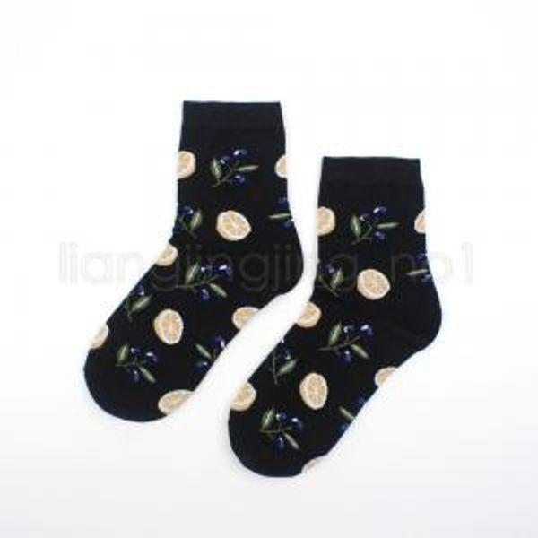 6 stilleri Friut desen baskılı çorap çorap sanat boyama örme spor ayak bileği çorap kadın kız ananas limon çorap FFA1626