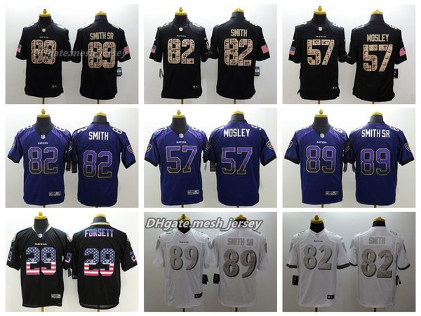 separation shoes aea01 61c38 2019 Men Baltimore Jersey Ravens 57 C.J. Mosley 82 Torrey Smith 29 Justin  Forsett 89 Steve Smith, Sr. Color Rush Football Jerseys Embroidery From ...