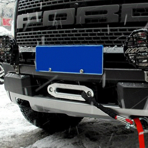 Sentetik Vinç Halat Kablo Kurşun SUV UTV ATV Parçaları Aksesuarlar için 4000lbs Alumimum Hawse Fairlead