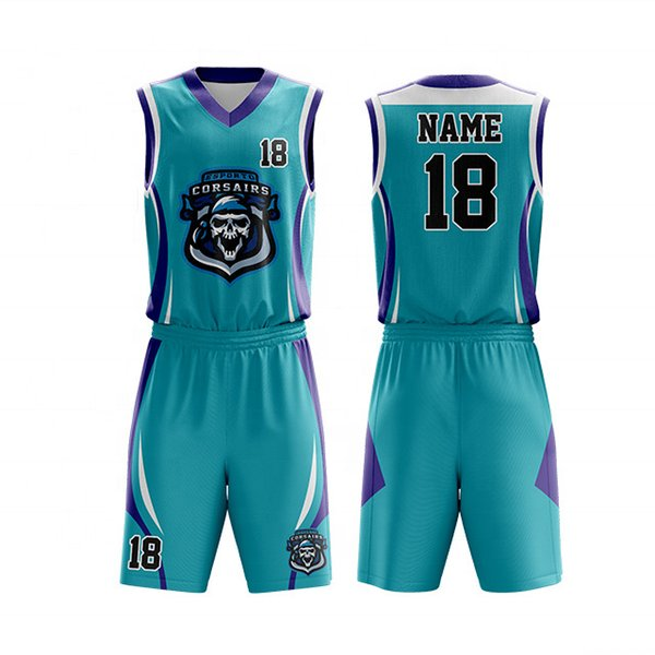 Sublimation 100%polyester design basketball clothes Best comfortable design basketball jersey Big sizes custom fabric basketball jersey