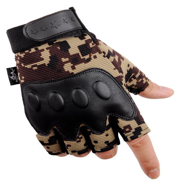Guanti tattici da motociclista con dita a metà dita e guanti da alpinismo