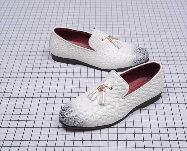 Borlas Zapatos de vestir para hombre zapatos de cuero tejido