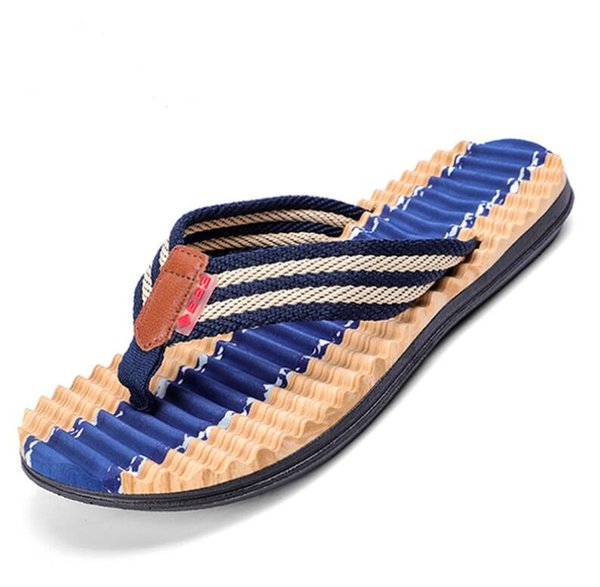 2019 mens Casual Men Slippers Flip Flops Summer Shoes Home / Beach Footwear Sapatos Hembre masculino flip-flops szie 40-45