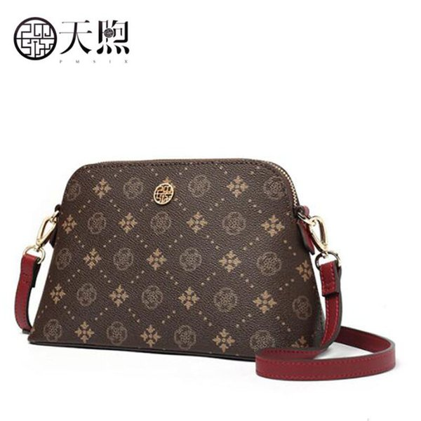 Pmsix new fashion women bag luxury PVC Material women bags designer printing Shell bag quality Shoulder Messenger