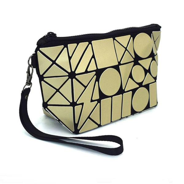 Diamond plaid PU cosmetic bag women make up zip pouch cosmetics brushes organizer storage fashion bag