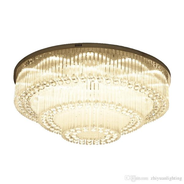 Luxurious Modern Crystal Chandelier Round high-end K9 Crystal ceiling Light Fixtures for living room dining room