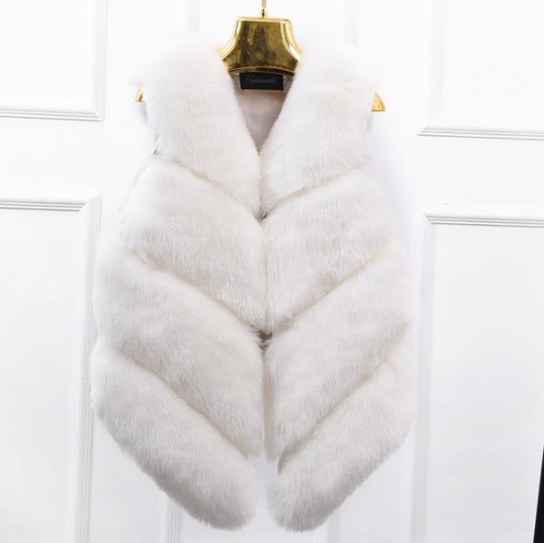 Veste en fourrure véritable fourrure gilet dans la longue section des femmes étaient Automne Version coréenne de Fox Manteau Gilet Couture sans manches