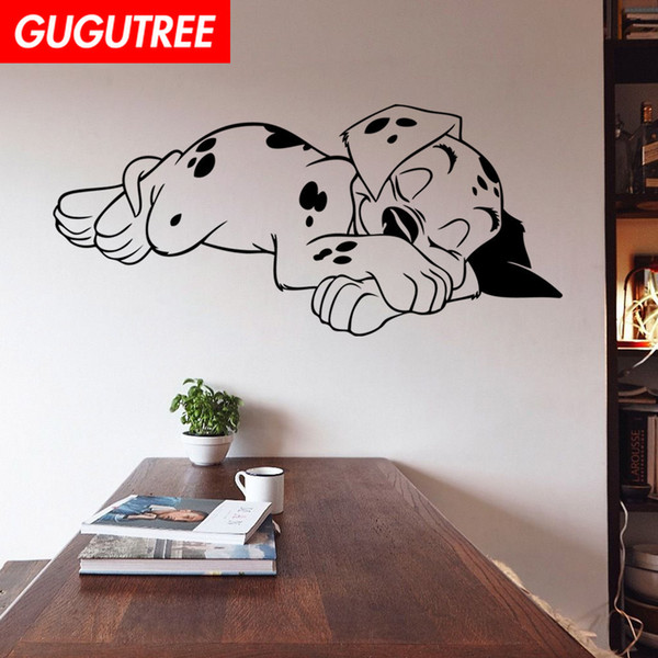 Decorate Home dogs cartoon art wall sticker decoration Decals mural painting Removable Decor Wallpaper G-1820