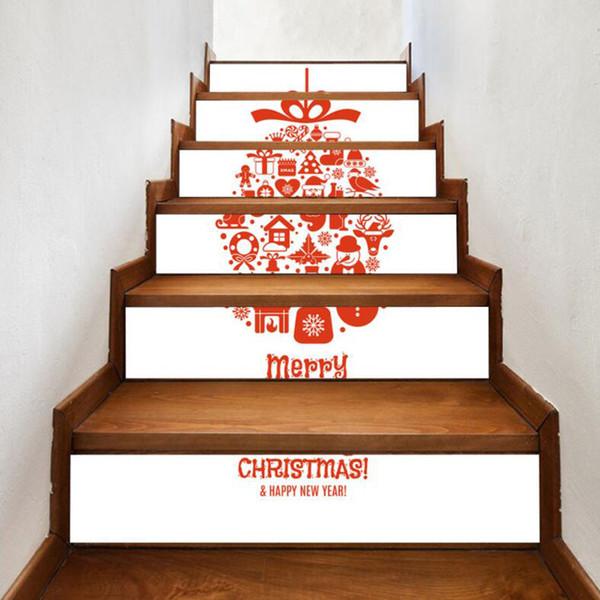 Acheter Creative Arbre De Noël Motif Escalier Autocollant Decal DIY Décor  Étanche PVC Escalier Autocollant De Noël Décoration Escalier Papier Peint  ...