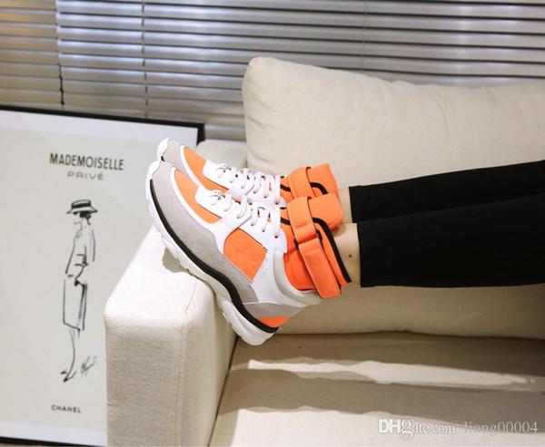 Yeni Tasarımcı Adı Marka Adam Rahat Ayakkabılar Düz Kanye West Moda Buruşuk Deri Dantel-up Düşük Kesim Eğitmenler Kaçak Arena Ayakkabı