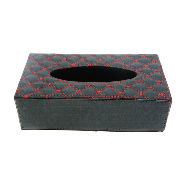 Tissue Holders for Home Office Bathroom Car Automotive Decoration Rectangle PU Leather Contracted Facial Tissue Box Napkin Holder Towel Box