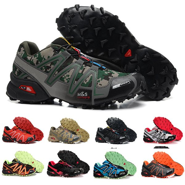 Free Shipping 2018 New Arrival Mens Zapatillas Speedcross 4 Sneakers Outdoor Waterproof Cross-country Shoes Athletic Shoes Size 39-48 6.5-14