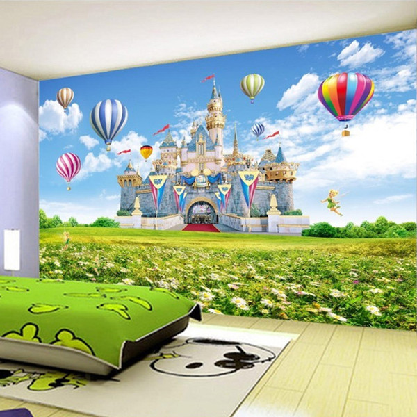 Custom 3D Photo Wallpaper Children Castle HD Landscape Photography Background Wall Painting Non-woven Wallpaper For Kids Room 3D