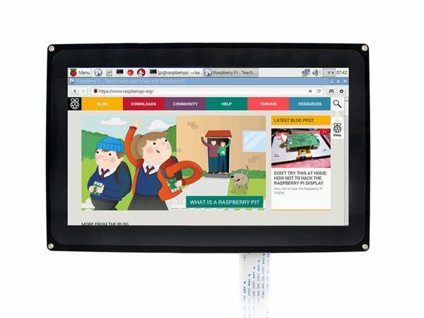 Waveshare 10,1 pouces LCD capacitif écran tactile 1024x600 pour Raspberry Pi Jetson Nano HDMI Display avec étui en acrylique pour le Royaume-Uni