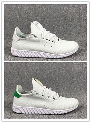 Adidas Tennis HU 2018 Nuovo arriva Pharrell Williams x Stan Smith Tennis HU Primeknit uomo donna Scarpe da corsa Sneaker traspirante Runner Scarpe sportive Taglia 36-45
