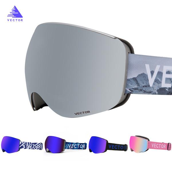 Professional Magnetic Ski Goggles Quick-change Lens Double Layers UV40 Protection Anti-fog Snowboard Ski Glasses for Men Women
